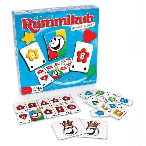 Rummikub Start to gra, która rozwija umiejętności poznawcze, takie jak rozpoznawanie cyfr, kolorów i kształtów oraz formowanie z nich grup w określonym porządku.